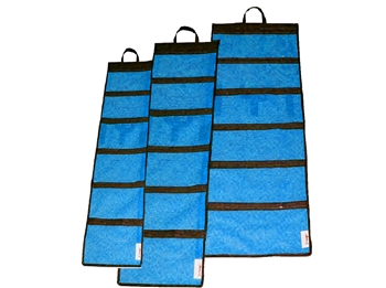 Multi Pocket Mesh And Vinyl Roll Up Lure Bag For Offshore
